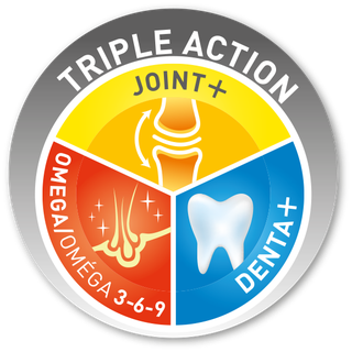 Look for our Triple Action logo
